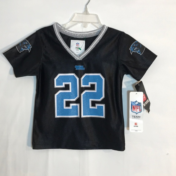 outlet store 16daa 6c37d NWT Girl's Carolina Panthers McCaffrey 22 Jersey NWT